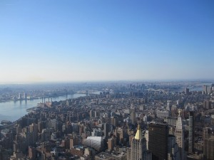 Morgens auf dem Empire State Building